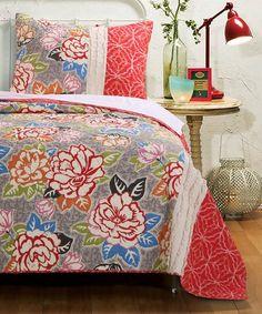 Look what I found on #zulily! Boho Rose Quilt Set #zulilyfinds