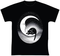 knupSilk - ESTAMPARIA/SERIGRAFIA: O Gato e a Lua
