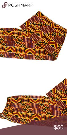 Palazzo pant In African Print US 12 Style with crop tops, fun t-shirts or tees. This long palazzo pants is trendy, simple and stylish. Item measures 45'' in length and would require heels to be worn.  African print fabric is non-stretchy and 100%cotton. Ripebelly Pants Wide Leg