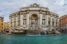 Trevi Fountain (Italian: Fontana di Trevi) is a fountain in the Trevi district in Rome, Italy, designed by Italian architect Nicola Salvi and completed by Pietro Bracci. Standing 26.3 metres high and 49.15 metres wide, it is the largest Baroque fountain in the city and one of the most famous fountains in the world. The fountain has appeared in several notable films, including Federico Fellini's La Dolce Vita and is a popular tourist attraction.