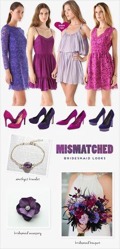 purple bridesmaid ideas