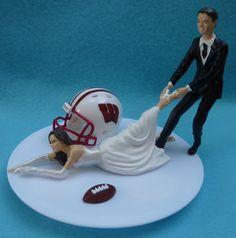 Wedding Cake Topper University of Wisconsin Badgers UW