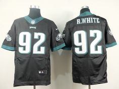 Nike Philadelphia Eagles #92 Reggie White 2014 Black Elite Jersey