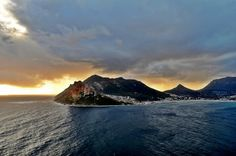 A view of Hout Bay from Chapmans Peak in Cape Town, South Africa