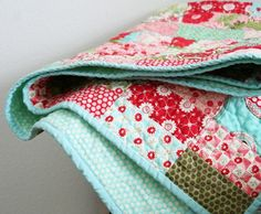 Moda Bliss with flannel backing...love the idea of using flannel for the back