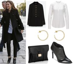Queen Letizia in Ever-Stylish Black for Teatro Real Visit