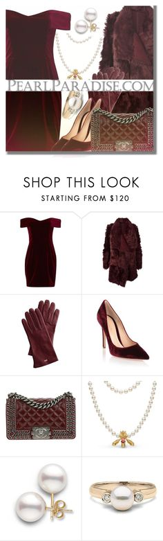 """Holidays with PEARL PARADISE"" by fattie-zara ❤ liked on Polyvore featuring Nicholas, Meteo by Yves Salomon, Mark & Graham, Gianvito Rossi, Chanel, pearljewelry and pearlparadise"