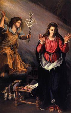 annunciation by Alessandro Allori