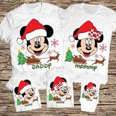 Disney Christmas Shirts, Mickey Mouse Christmas, Disney Shirts For Family, Mickey Mouse And Friends, Family Shirts, Family Christmas, Winter Baby Boy, Disney Silhouettes, Minnie