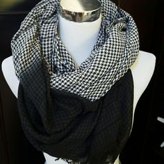 """Silence + Noise New Black and white gingham print scarf. Approx 80""""x 36"""". Can be worn so many ways! Urban Outfitters Accessories Scarves & Wraps"""