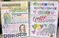 Daily art journal. Inspiration for scrapbook journal