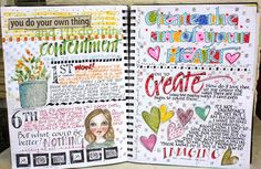 Daily art journal. I could do it digi style :)