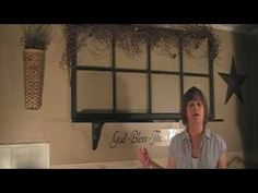 """One of our first videos.  """"I just love your video's. I have alot of decorating ideas thanks to you. Will you be doing more video's any time soon? I would like to see more on kitchen, bath and bedrooms.  jan97m""""    Country Home Decorating - Old Window - Before and After    Check out our Facebook Page :)   http://www.facebook.com/pages/Country-Corner/123025284380957"""