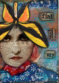 Post Card created for swap - by Mary Jane Chadbourne/Desert Dream Studios