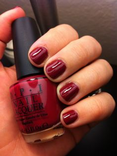 From A to Zurich - one of my fav OPI reds