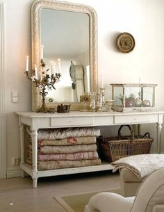 Bedroom storage ideas - need a piece like this for our quilts!