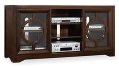 Hooker Furniture 5066-55402 Kinsey 60'' Entertainment Console, Dark Wood