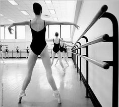 at the #barre. #pointe