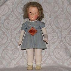 """Kathe Kruse Cloth Doll IX """"The Little German Child"""" from LYNETTE GROSS ANTIQUE DOLLS on Doll Shops United http://www.dollshopsunited.com/stores/lynettegrossdolls/items/1290073/Kathe-Kruse-Cloth-Doll-IX-Little-German-Child #dollshopsunited"""