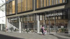 The Cube, Edinburgh. We used our own brand, SugarCube to dress this long term vacant unit. The target occupier was a coffee shop and thankfully along came Starbucks.