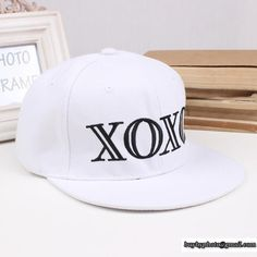 28532ae6abc Fashion White XOXO Letter Baseball Caps Hip Pop Snapback Caps For Men And Women  Hat Sizes