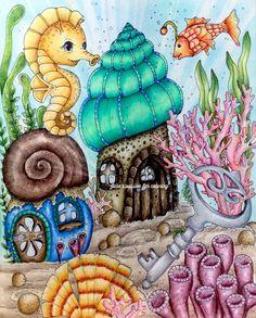 Fairy celebrations by Klara Markova Coloring Book Art, Adult Coloring, Coloring Pages, Colouring, Posca Marker, Owl Wallpaper, Markova, Ocean Colors, Coloring Tutorial
