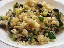Quinoa with Black Beans, Corn, and Zucchini