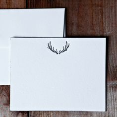 Antler Note Cards—Made by Ancesserie exclusively for Garden & Gun