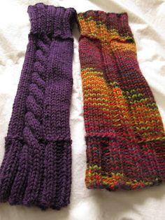 Two legwarmer patterns.  Free ravelry download