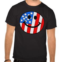 4th of July Smiley T-shirts