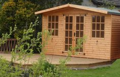 12ft x 12ft Garden summerhouse with canopy feature