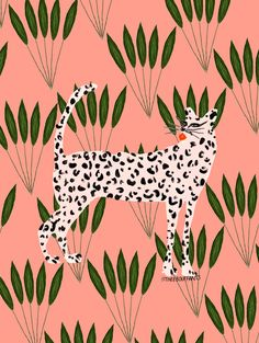 Cheetah On Leaves by Kendra Dandy on Artfully Walls