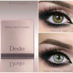 Desio @desioeyes Sensual Beauty Lenses in Desert Dream #eye #color #contacts Light Smokey Green Colored Contacts, Italian Colored Contact Lenses Desio ☞ http://www.desiolens.com/