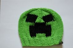 Minecraft Creeper Inspired Knit Crochet Beanie Cap by LiLiKnits, $20.00
