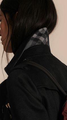 Black Sandringham Fit Cashmere Trench Coat 5
