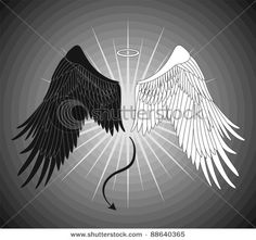 Angel & Devil wing tattoo. Back. - I've been looking for an angel wing tattoo for quite some time now, I think I may go with something like this instead.