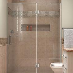 """DreamLine D32772R-04 Unidoor-X 51"""" W x 72"""" H Shower Door in Brushed Nickel"""
