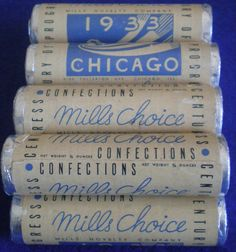 Mills Slot Machine Mints from the 1933 Chicago World's Fair.