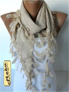 Scarf ,women scarves - guipure -  fashion scarf - Fashion accessories- for her- christmas gift