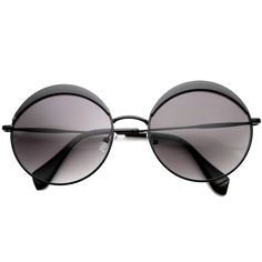 - Description - Measurements - Shipping - This is an extremely unique new sunglass style that takes you back to that 60's mod era with an oversized round retro spin. Features a prominent metal thicken