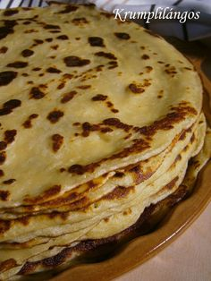 Salty Cake, Chapati, Hungarian Recipes, Main Meals, The Best, Side Dishes, Good Food, Food And Drink, Healthy Eating