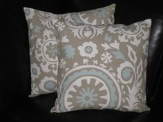 Set of Two 18 x 18 inch Pillow Covers SUZANI by beckorama on Etsy, $25.00