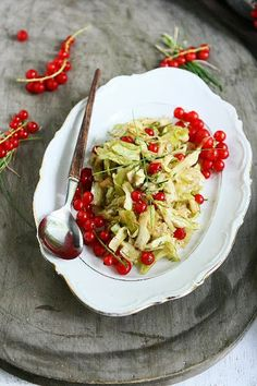 Sweetheart Cabbage Salad with Red Currants