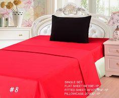 Tache 3 Piece Vibrant Red/ Black Bed sheet Set (Single)