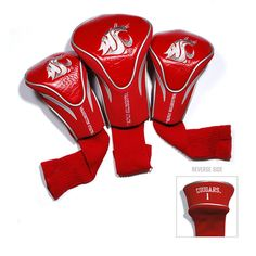 Washington State Cougars NCAA 3 Pack Contour Fit Headcover