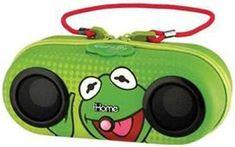 Kermit Frog Portable Stereo Speakers iPod Dock Water Resistant Sesame Street
