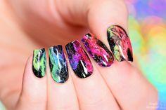 Simply Nailogical: Rainbow smoke nails   Mani swap with Elleandish!