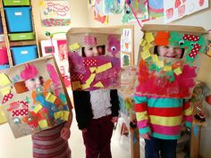 LOVE these adorable recycled robots. A great way to use odds and ends from the craft cupboard...