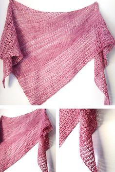 Ravelry: Wildheart shawl with Zen Yarn Garden Serenity Silk Single - knitting pattern by Janina Kallio.