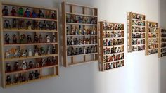 Custom made wood rack for Lego Minifigures